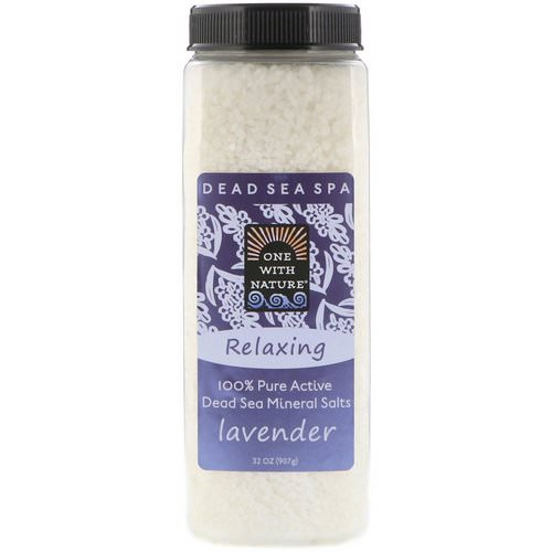 One with Nature, Dead Sea Mineral Salts, Relaxing, Lavender, 2 lbs (907 g) Review
