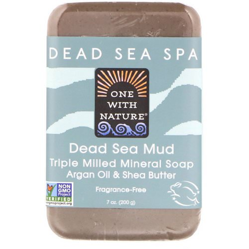One with Nature, Triple Milled Mineral Soap Bar, Dead Sea Mud, Fragrance-Free, 7 oz (200 g) Review