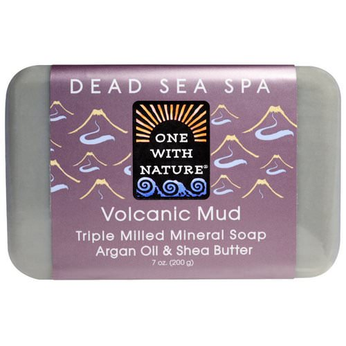 One with Nature, Triple Milled Mineral Soap, Volcanic Mud, 7 oz (200 g) Review