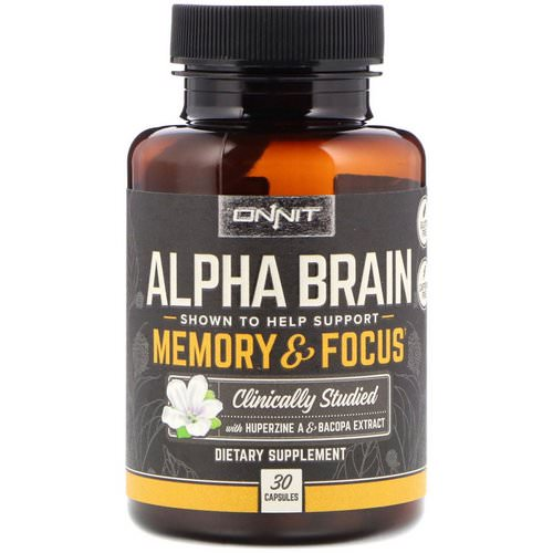 Onnit, Alpha Brain, Memory & Focus, 30 Capsules Review