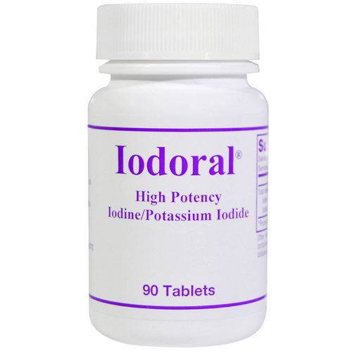 Optimox, Iodoral, Iodine/Potassium Iodide, 90 Tablets Review