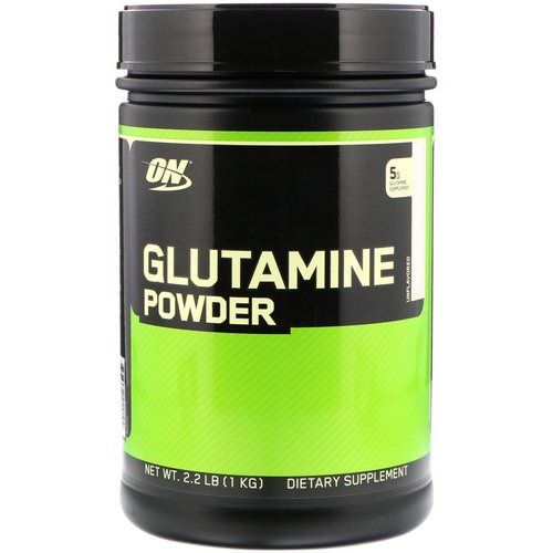Optimum Nutrition, Glutamine Powder, Unflavored, 2.2 lbs (1 kg) Review