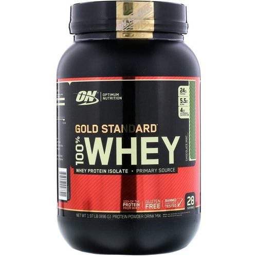 Optimum Nutrition, Gold Standard, 100% Whey, Chocolate Mint, 1.97 lb (896 g) Review