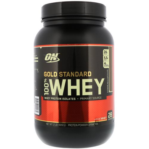 Optimum Nutrition, Gold Standard 100% Whey, Extreme Milk Chocolate, 2 lbs (909 g) Review
