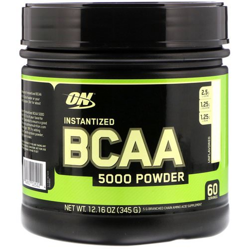 Optimum Nutrition, Instantized BCAA 5000 Powder, Unflavored, 12.16 oz (345 g) Review
