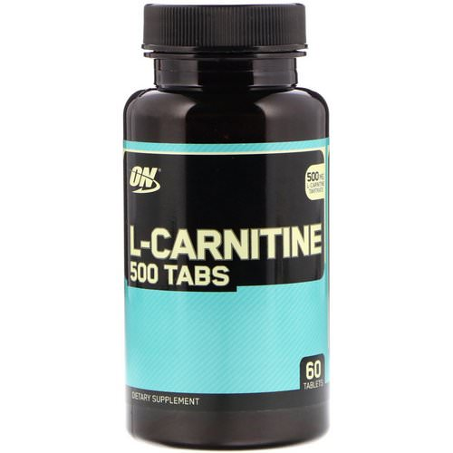 Optimum Nutrition, L-Carnitine 500 Tabs, 500 mg, 60 Tablets Review