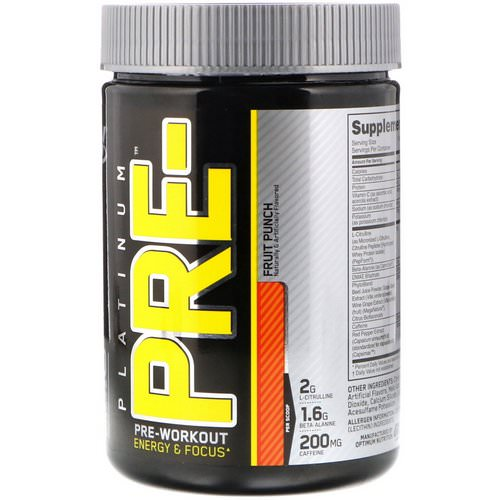 Optimum Nutrition, Platinum Pre-Workout, Fruit Punch, 8.45 oz (240 g) Review