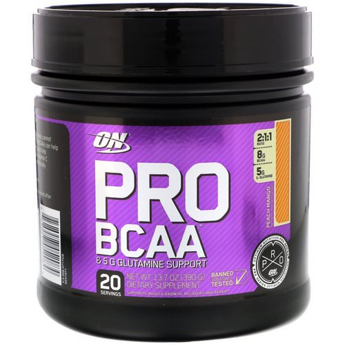Optimum Nutrition, Pro BCAA, Peach Mango, 13.7 oz (390 g) Review