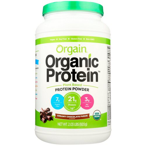 Orgain, Organic Protein Powder, Plant Based, Creamy Chocolate Fudge, 2.03 lbs (920 g) Review