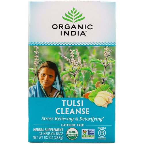 Organic India, Tulsi Tea, Cleanse, Caffeine-Free, 18 Infusion Bags, 1.02 oz (28.8 g) Review