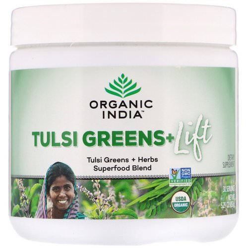 Organic India, Tulsi Greens+ Lift, Superfood Blend, 5.29 oz (150 g) Review