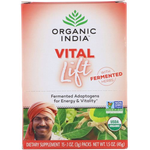 Organic India, Vital Lift, Fermented Adaptogens, 15 Packs, 0.1 oz (3 g) Each Review