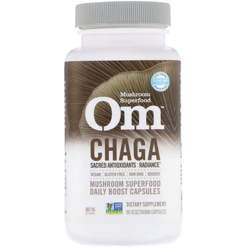 Organic Mushroom Nutrition, Chaga, 667 mg, 90 Vegetarian Capsules Review
