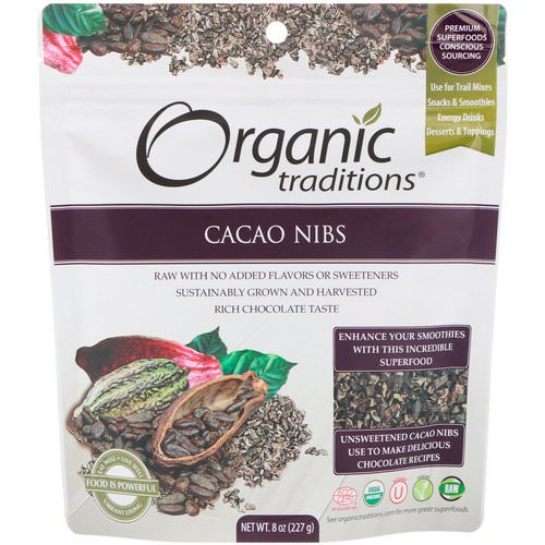 Organic Traditions, Cacao Nibs, 8 oz (227 g) Review