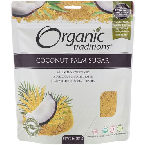 Organic Traditions, Coconut Palm Sugar, 8 oz (227 g) Review