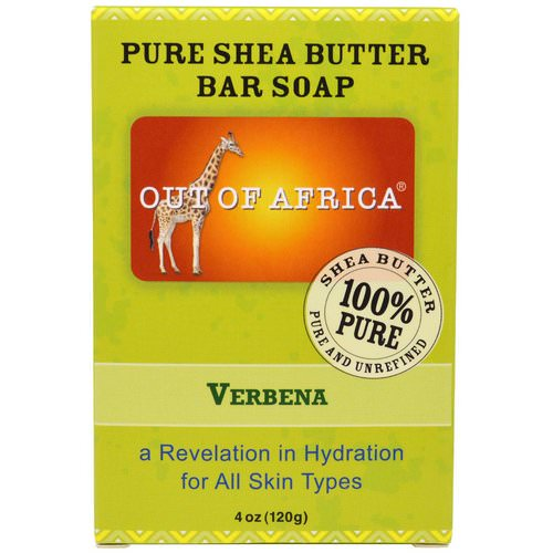 Out of Africa, Pure Shea Butter Bar Soap, Verbena, 4 oz (120 g) Review