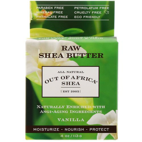 Out of Africa, Raw Shea Butter, Intense Moisture for Face, Body & Hair, Vanilla, 4 oz (113 g) Review