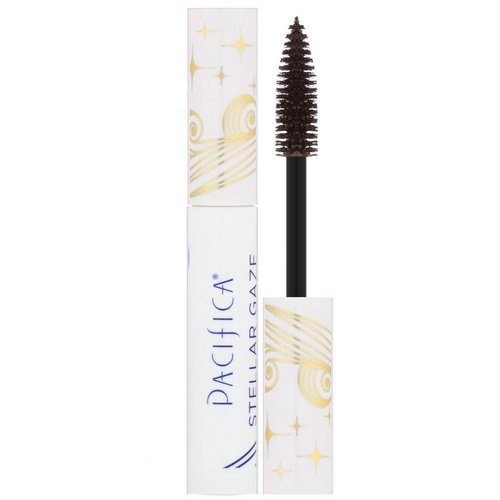 Pacifica, Stellar Gaze, Length & Strength Mineral Mascara, Stardust Brown, 0.25 oz (7.1 g) Review