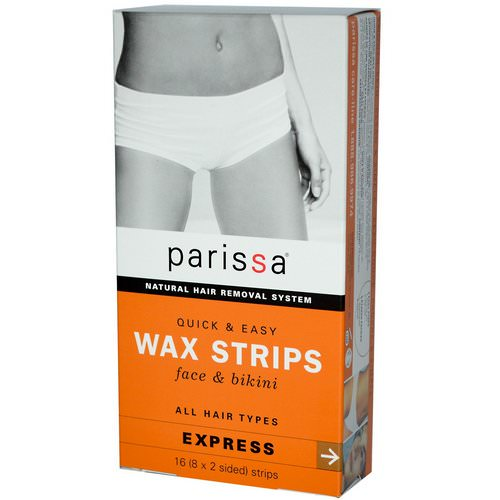 Parissa, Natural Hair Removal System, Wax Strips, Face & Bikini, 16 (8x2 Sided) Strips Review