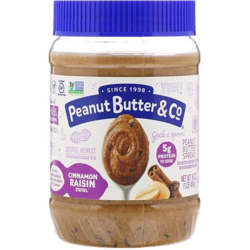 Peanut Butter & Co, Cinnamon Raisin Swirl, Peanut Butter Blended with Cinnamon and Raisins, 16 oz (454 g) Review