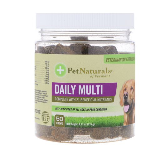 Pet Naturals of Vermont, Daily Multi, For Dogs, 50 Chews, 6.17 oz (175 g) Review