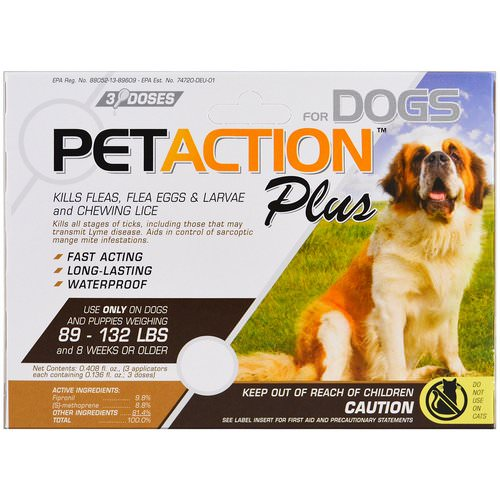PetAction Plus, For Xlarge Dogs, 3 Doses - 0.136 fl oz Each Review