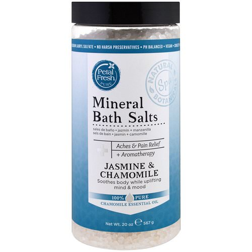 Petal Fresh, Pure, Mineral Bath Salts, Jasmine & Chamomile, 1.25 lbs (567 g) Review