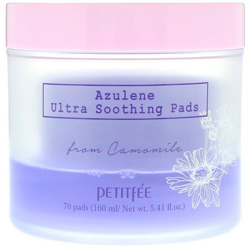 Petitfee, Azulene Ultra Soothing Pads, 70 Pads Review