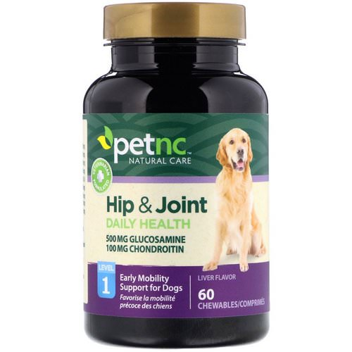 petnc NATURAL CARE, Hip & Joint, Level 1, Liver Flavor, 60 Chewables Review