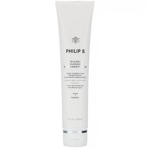 Philip B, Icelandic Blonde Deep Conditioner, Plum + Grapeseed, 6 fl oz (178 ml) Review