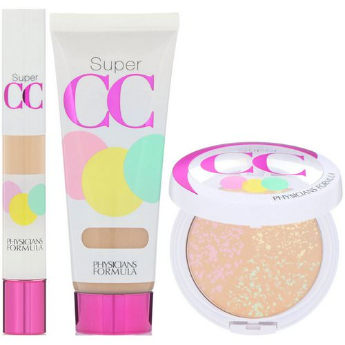 Physicians Formula, Complete Correction, Super CC Color-Correction + Care Makeup, SPF 30, Light-Medium Kit, 3 Piece Kit Review