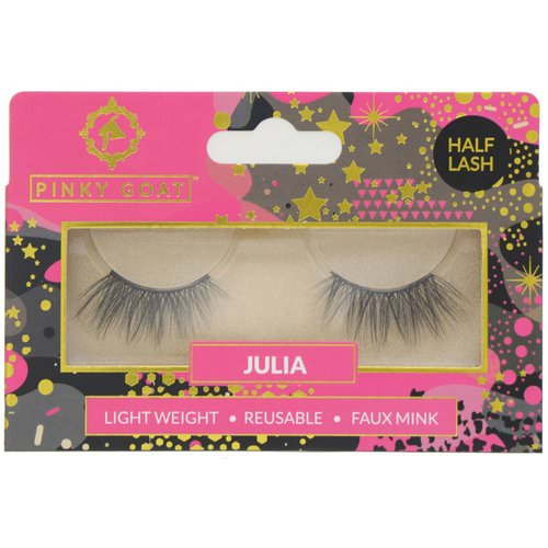 Pinky Goat, Julia, Light Weight False Eyelashes, 1 Pair Review