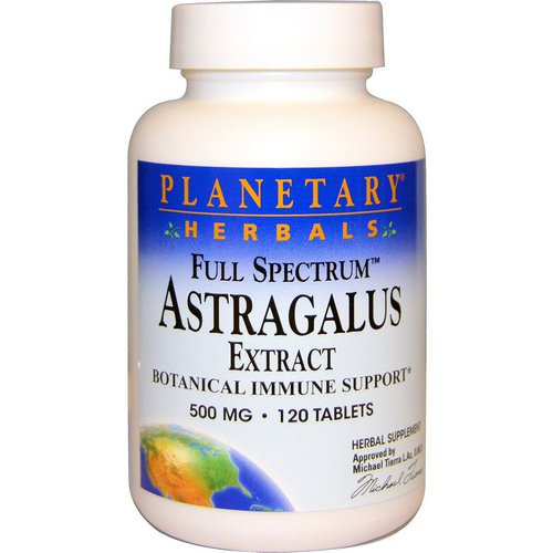 Planetary Herbals, Astragalus Extract, Full Spectrum, 500 mg, 120 Tablets Review