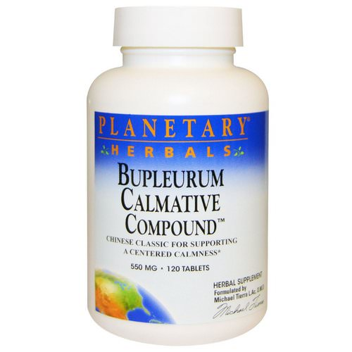 Planetary Herbals, Bupleurum Calmative Compound, 550 mg, 120 Tablets Review