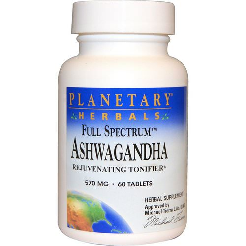 Planetary Herbals, Full Spectrum, Ashwagandha, 570 mg, 60 Tablets Review