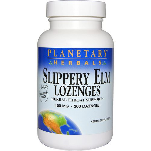 Planetary Herbals, Slippery Elm Lozenges, Tangerine Flavor, 150 mg, 200 Lozenges Review