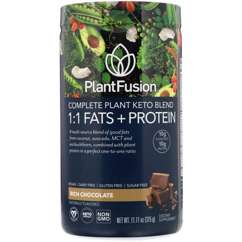 PlantFusion, Complete Plant Keto Blend, 1:1 Fats + Protein, Rich Chocolate, 11.11 oz (315 g) Review