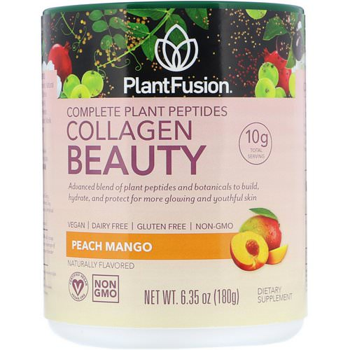 PlantFusion, Complete Plant Peptides, Collagen Beauty, Peach Mango, 6.35 oz (180 g) Review