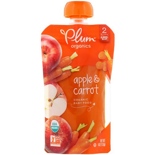 Plum Organics, Organic Baby Food, Stage 2, Apple & Carrot, 4 oz (113 g) Review