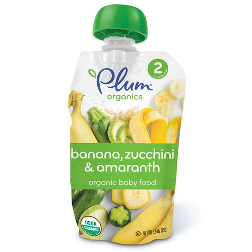 Plum Organics, Organic Baby Food, Stage 2, Banana, Zucchini & Amaranth, 3.5 oz (99 g) Review