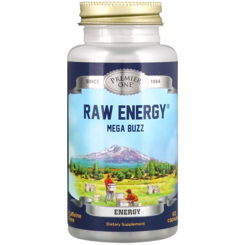 Premier One, Raw Energy Mega Buzz, 60 Capsules Review