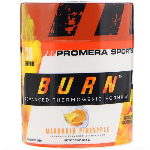 Promera Sports, Burn, Advanced Thermogenic Formula, Mandarin Pineapple, 3.13 oz (88.0 g) Review