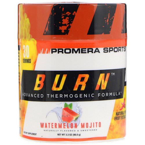 Promera Sports, Burn, Advanced Thermogenic Formula, Watermelon Mojito, 3.3 oz (96.0 g) Review