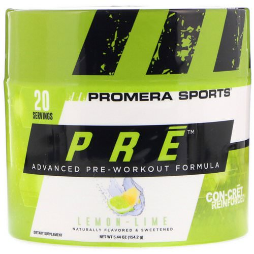 Promera Sports, PRE, Advanced Pre-Workout Formula, Lemon-Lime, 5.44 oz (154.2 g) Review