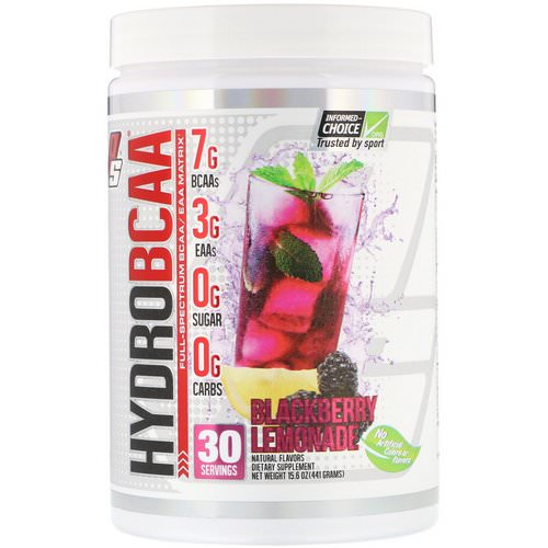 ProSupps, Hydro BCAA, Blackberry Lemonade, 15.6 oz (441 g) Review