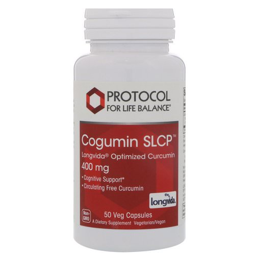 Protocol for Life Balance, Curcumin SLCP, Longvida Optimized Curcumin, 400 mg, 50 Veg Capsules Review