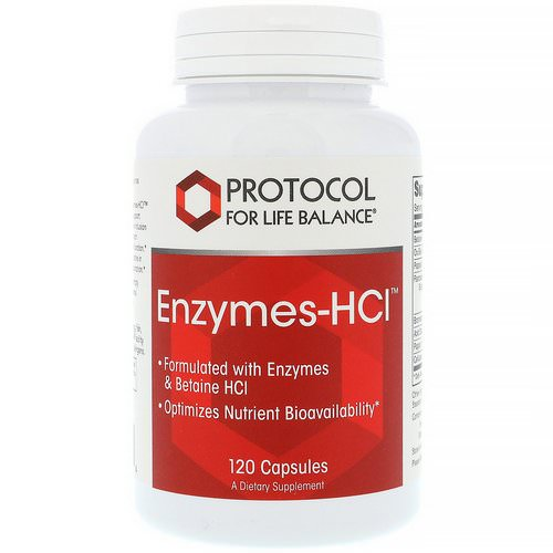 Protocol for Life Balance, Enzymes-HCI, 120 Capsules Review