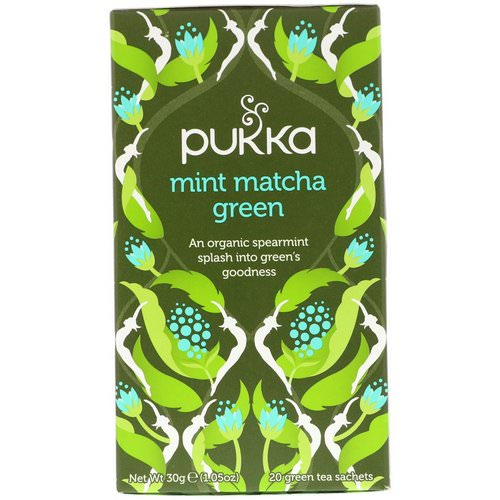 Pukka Herbs, Mint Matcha Green Tea, 20 Green Tea Sachets, 1.05 oz (30 g) Review