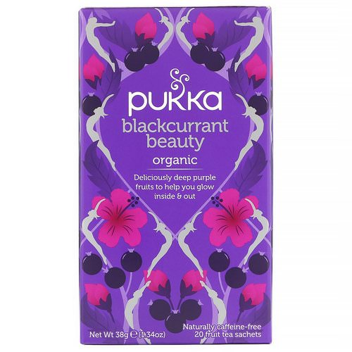 Pukka Herbs, Organic Blackcurrant Beauty, Caffeine-Free, 20 Fruit Tea Sachets, 1.34 oz (38 g) Review
