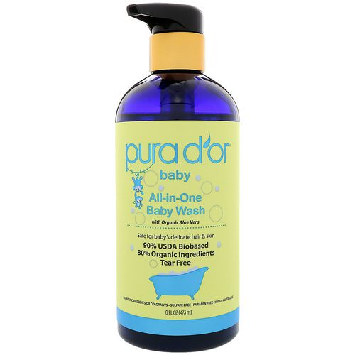 Pura D'or, All-in-One Baby Wash, 16 fl oz (473 ml) Review